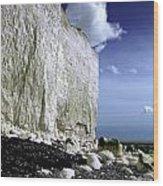 White Cliffs At Birling Gap Wood Print