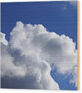 White Clouds Art Prints Blue Sky Wood Print