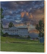White Columns Under Evening Skies Wood Print