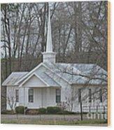 White Country Church Series Photo B Wood Print