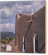 White Crosses At Taos Wood Print