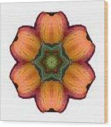 Daylily I Flower Mandala White Wood Print