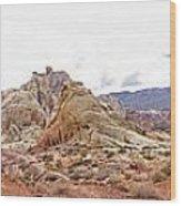 White Domes Panorama Wood Print