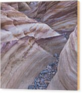 White Domes Slot Canyon - Vertical Wood Print