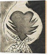 White Dove Art - Comfort - By Sharon Cummings Wood Print
