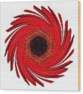Dying Amaryllis Vii Flower Mandala White Wood Print