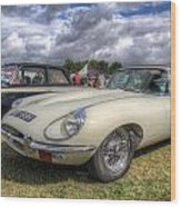 White E-type Wood Print
