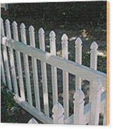 White Fence Provincetown Wood Print