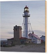 White Fish Point Lighthouse Wood Print