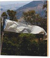 White Flag1 Wood Print by Fabio Giannini