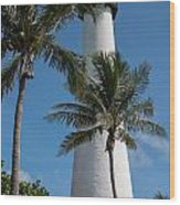 White Florida Lighthouse Wood Print