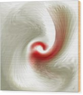 White Flower Abstraction Wood Print