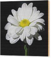 White Flower Wood Print by Gennadiy Golovskoy