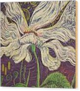White Flower Series 6 Wood Print