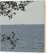 White Freighter Wood Print