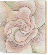 White Gardenia 1 Wood Print by Anna Skaradzinska