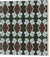 White Geranium Pattern Wood Print