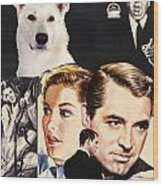 White German Shepherd Art Canvas Print - Suspicion Movie Poster Wood Print