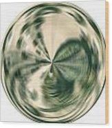 White Gold Ball Wood Print