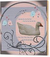 White Goose Series 1 Wood Print