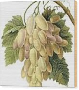 White Grapes Wood Print