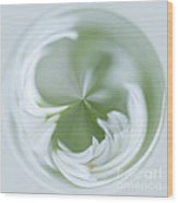 White Green And Round Wood Print