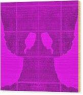 White Hands Purple Wood Print