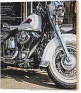 White Harley Wood Print