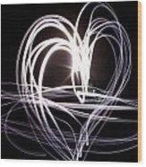 White Heart Wood Print by Aya Murrells
