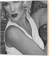 White Hot Bw Palm Springs Wood Print