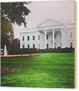 White House Wood Print
