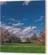 White House Lawn In Spring Wood Print