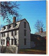 White House Of Deerfield Wood Print