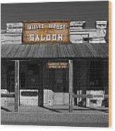 White House Saloon Wood Print