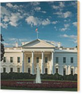 White House Sunrise Wood Print