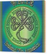 White Ireland To America Wood Print