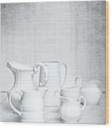 White Jugs Wood Print by Amanda Elwell