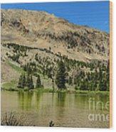 White Knob Mountain Lake Wood Print