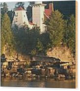 White Lighthouse Wood Print