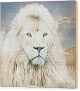 White Lion - Spirit Of Goodness Wood Print