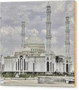 White Mosque Wood Print