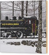 White Mountains Railroad And Train Wood Print