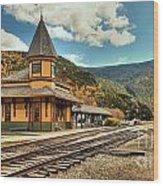 White Mountans Crawford Train Depot Wood Print
