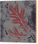 White Oak Leaf Wood Print