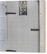 White On White Door Wood Print