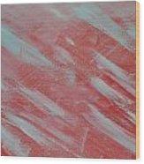 White Orange Sky Wood Print