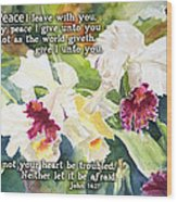 White Orchid John 14 Wood Print