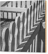 White Picket Fence Portsmouth Wood Print