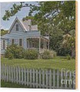 White Pickett Fence Wood Print