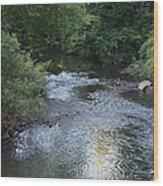 White Plains Stream Wood Print